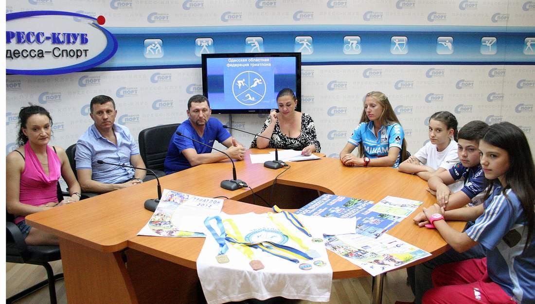 Триатлон в Пресс-клубе Одесса-Спорт